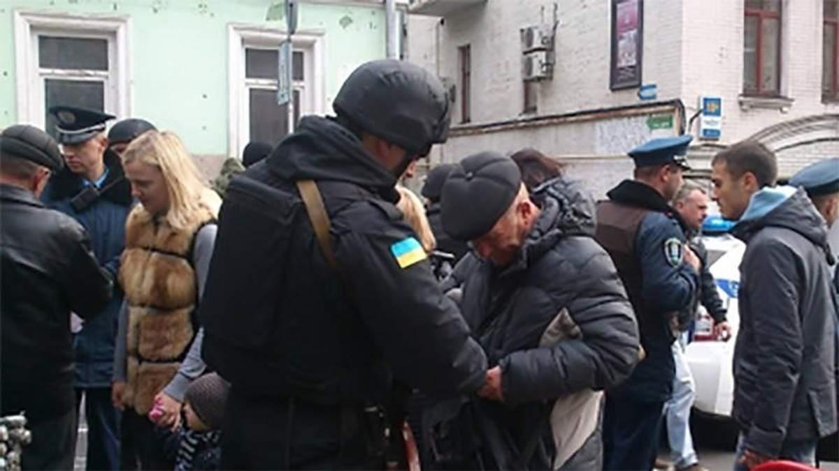 На Марше Героев в Киеве взрыв