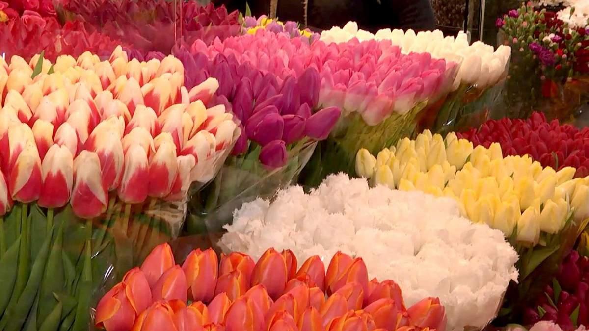 Сколько стоит букет цветов к восьмому марта