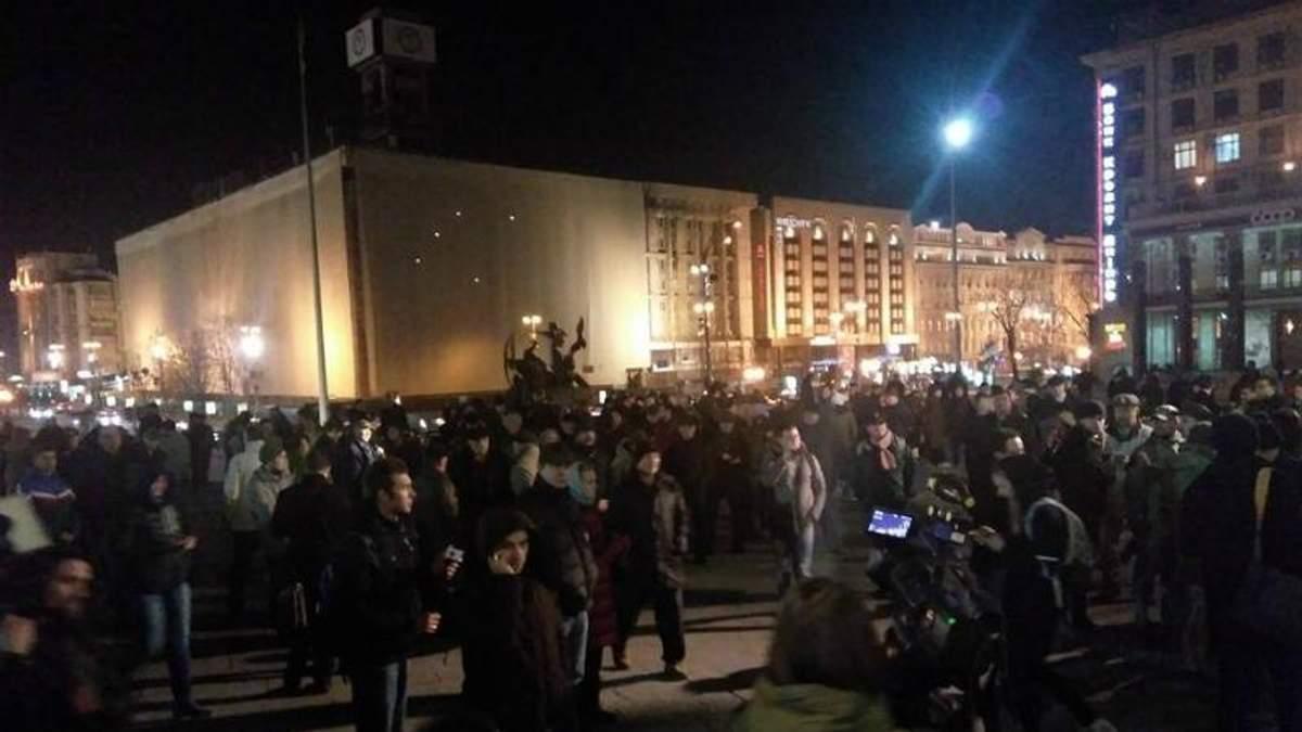 Десятки людей прийшли підтримати блокаду: що зараз відбувається у Києві