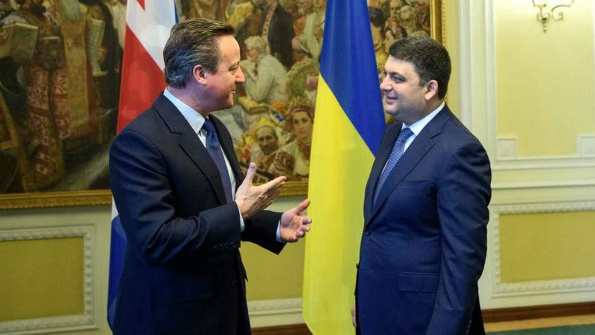 Зустріч двох прем'єрів: про що говорили Гройcман з Кемероном