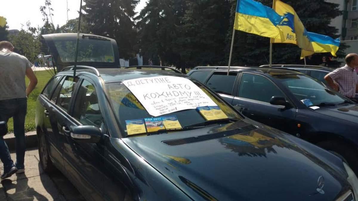 Протест владельцев авто на иностранных номерах: участники объявили о бессрочной акции
