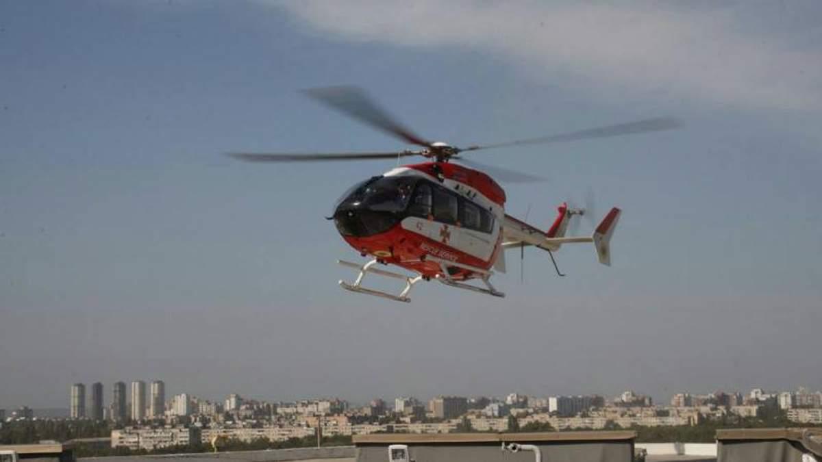 Вперше за 10 років пацієнта в Інститут серця доставили вертольотом: опубліковані фото