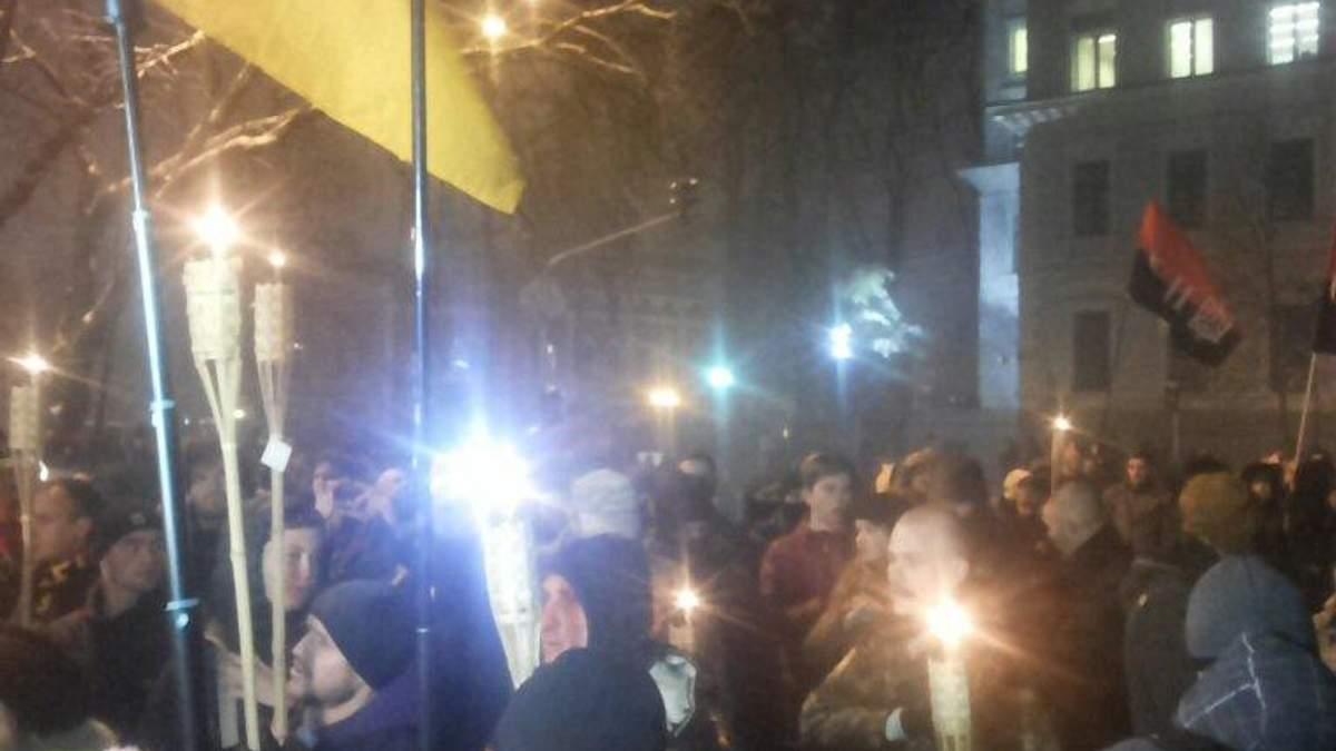 Смолоскипна хода на Майдані: штовханина і перші затримані