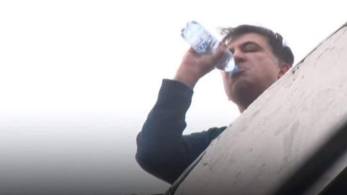 Саакашвілі на даху - відео як СБУ затримали Міхеїла Саакашвілі