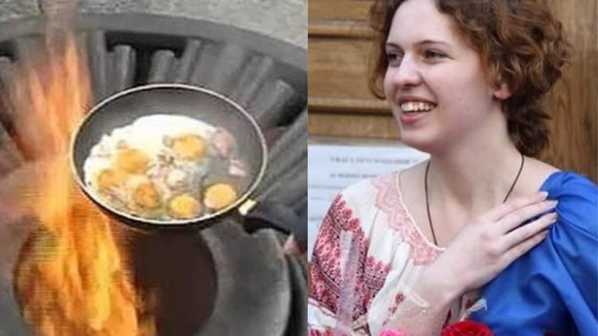 Україна виплатить 4 тисячі євро Ганні Сіньковій, яка смажила яєчню на Вічному вогні