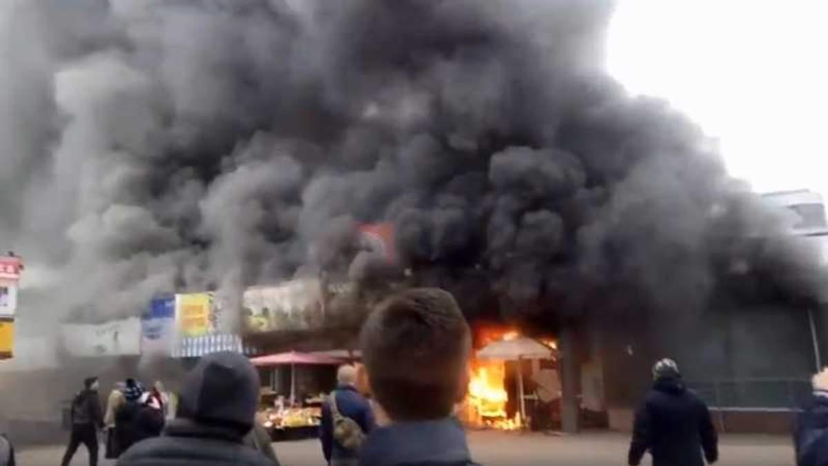 Пожар на Левобережной - видео: метро закрыто на вход и выход