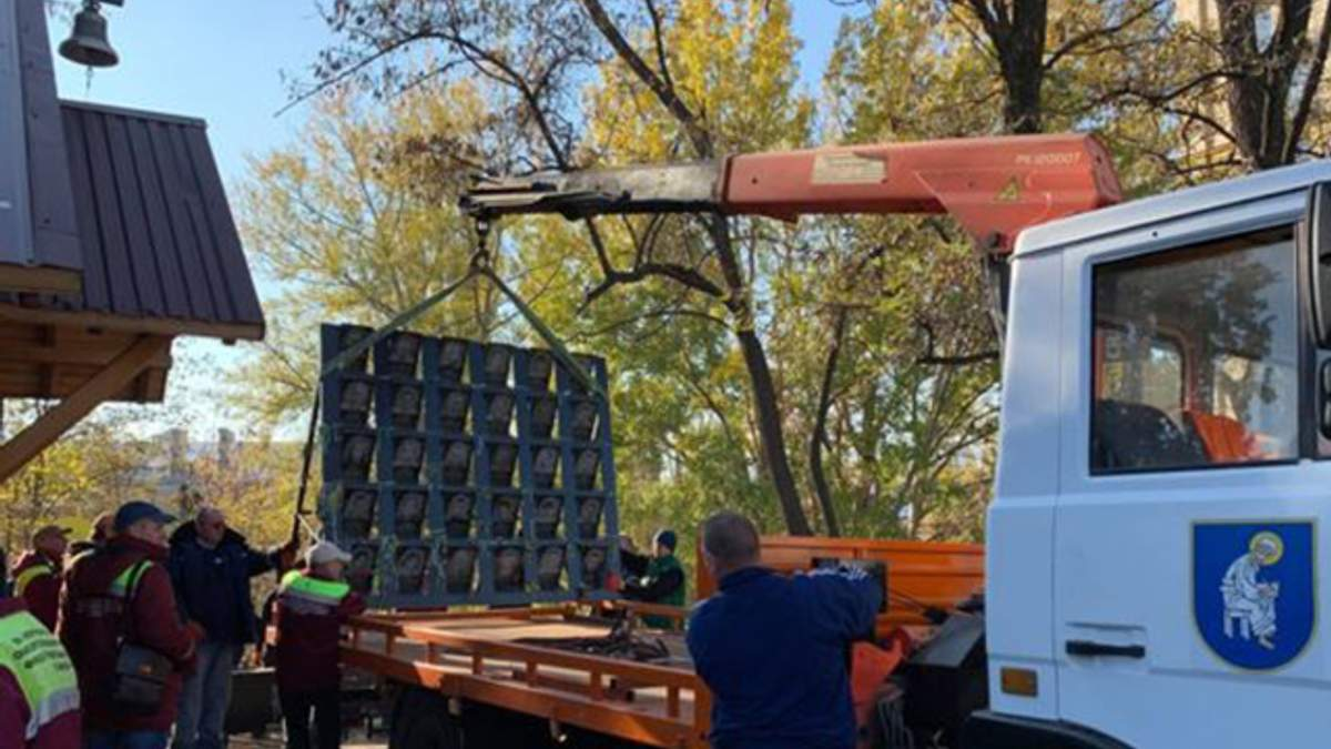 В Киеве демонтировали памятник Героям Небесной Сотни