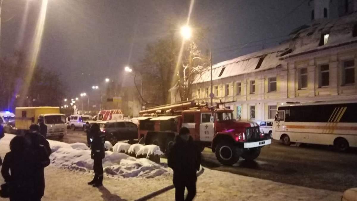 Пожежа у Києво-Печерській лаврі: в УПЦ МП розповіли про чоловіка, який проник у комплекс