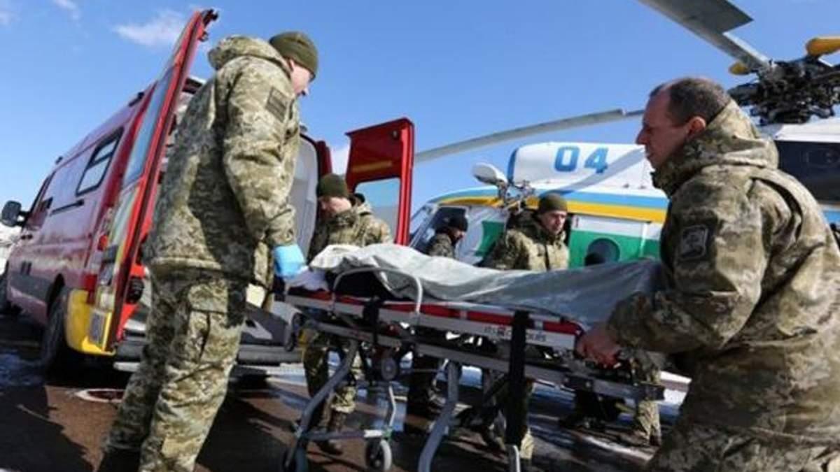 До Києва привезли багато важкопоранених військових з Донбасу