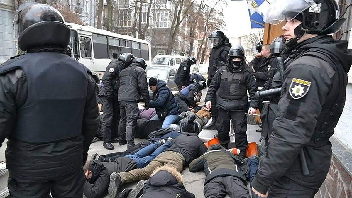 Затримання активістів у Києві через справу Гандзюк: з'явилось пояснення поліції