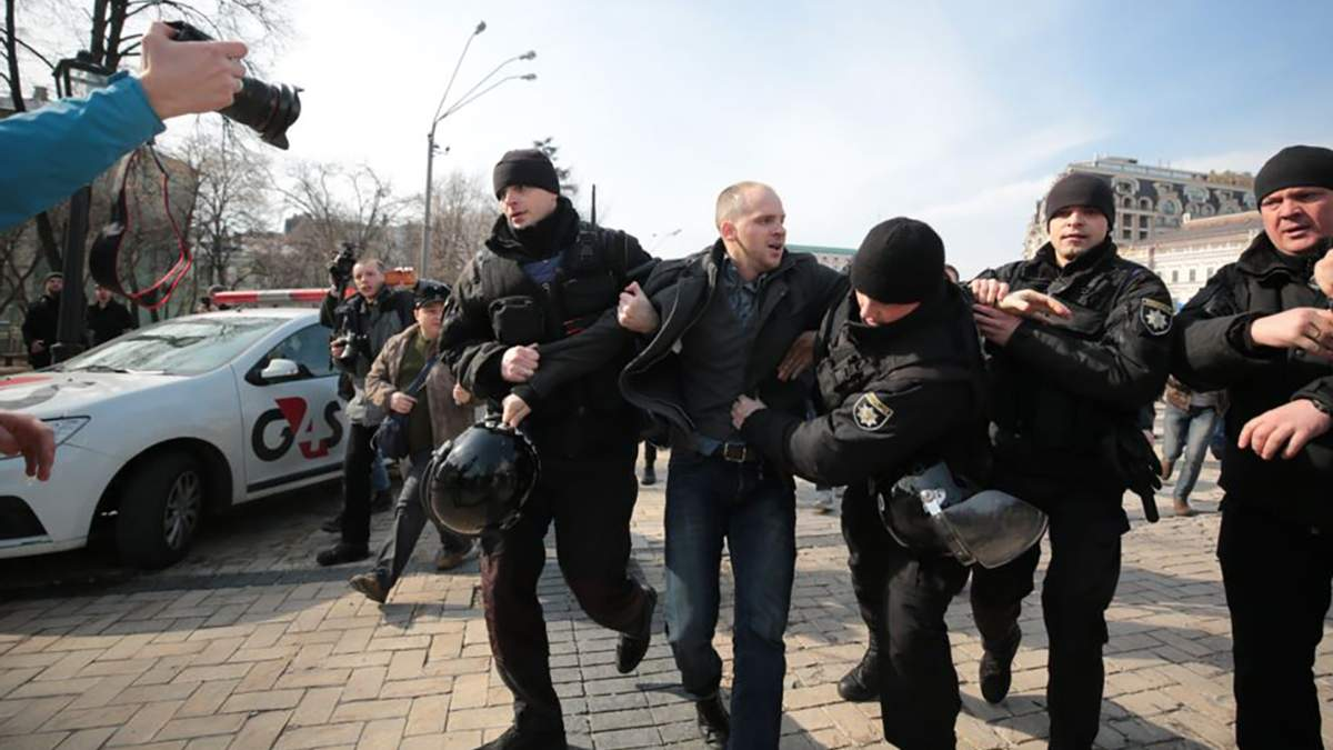 """""""Патріархат!"""" проти """"Я – феміністка"""": конфлікт на Марші за права жінок у Києві"""
