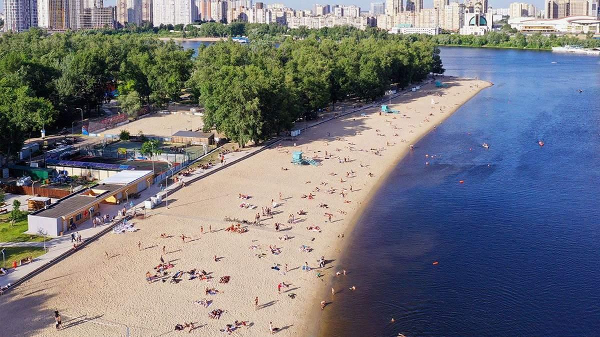 На яких пляжах Києві не варто купатися