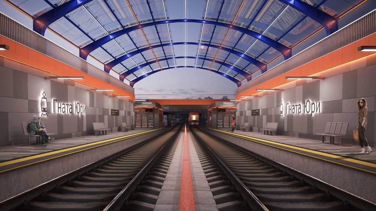Современные станции скоростного трамвая на Борщаговку