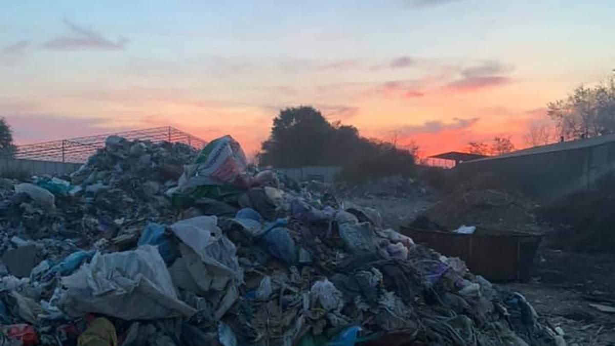 Пожар на свалке мусора под Борисполем: детали, фото и видео