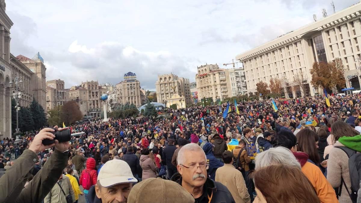 На вече на Майдан вышли 10 тысяч человек, нарушений не было, – МВД