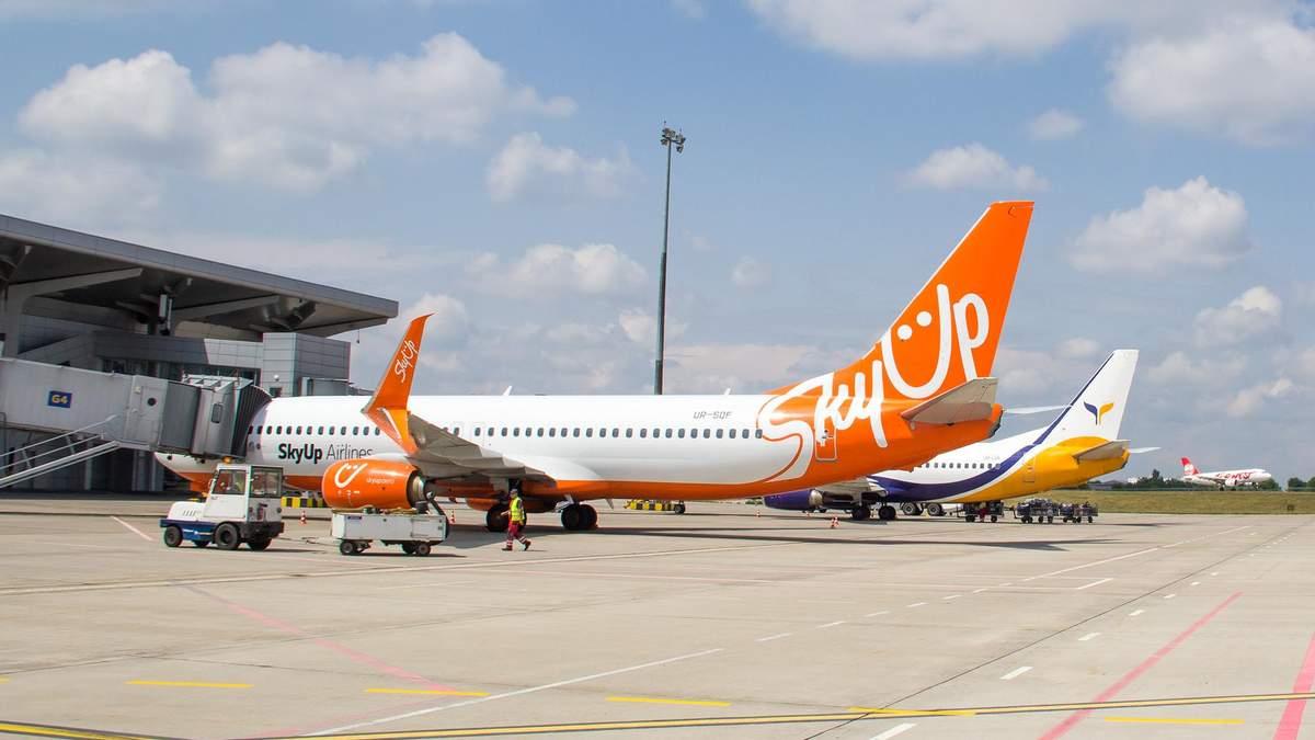 SkyUp летать между городами Украины