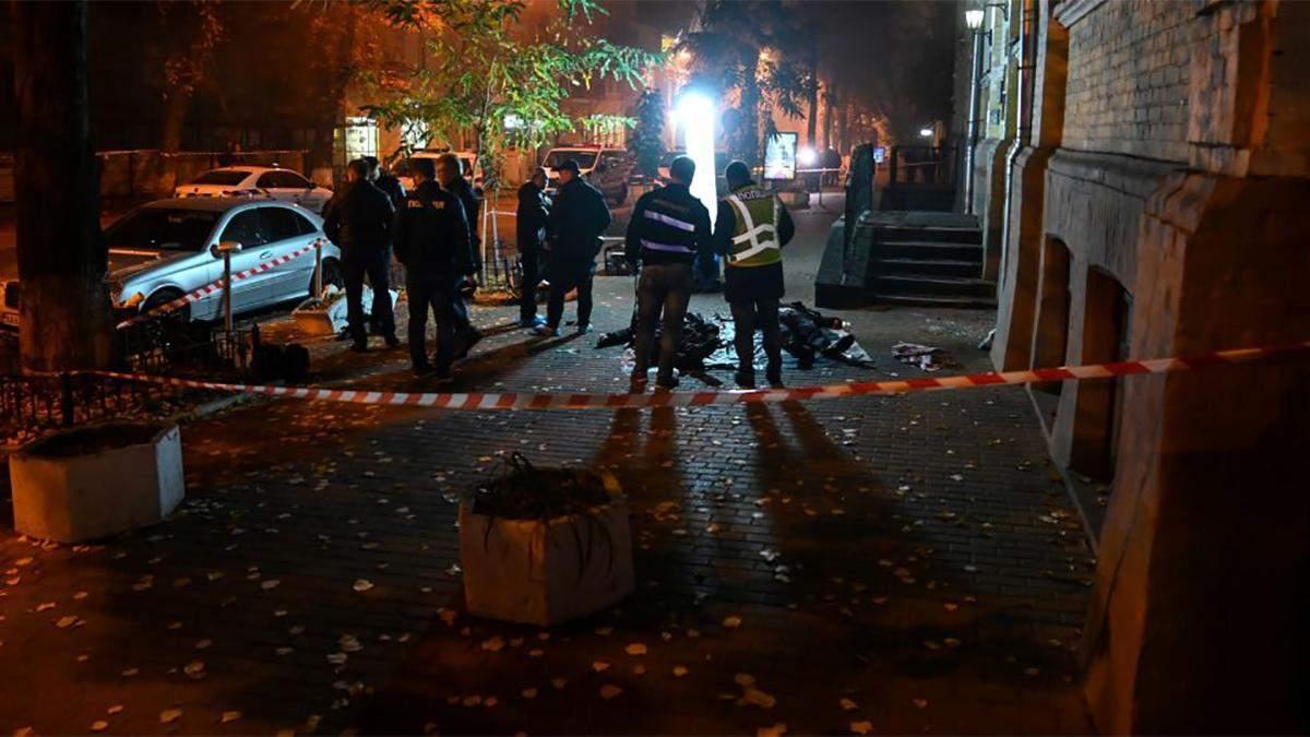 Место взрыва на Пушкинской в Киеве