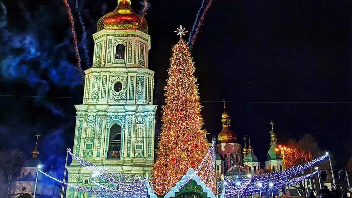 У Києві запалили головну ялинку країни 2020 року: онлайн-трансляція та фото