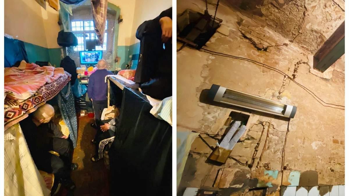 В'язні СІЗО в Києві сплять по черзі і завішують вибиті вікна ковдрами: жахливі фото