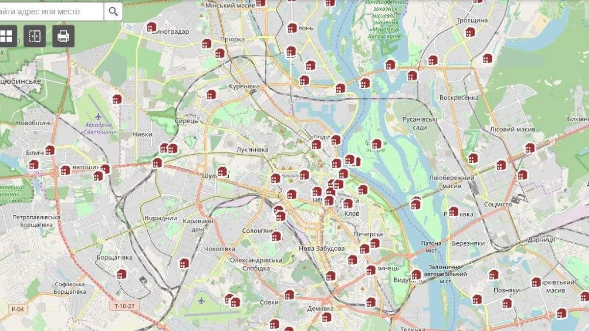 Обновленная информация об имуществе и объектах Киева стала доступна онлайн