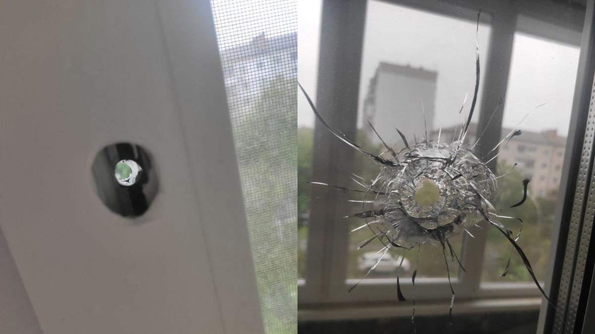 Стрілянина у Броварах: куля влучила у вікно будинку, фото