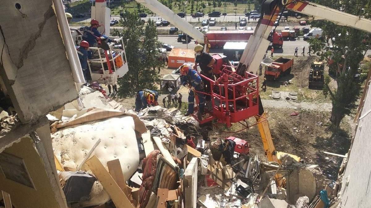 Взрыв на Позняках: какова ситуация на месте трагедии на данный момент