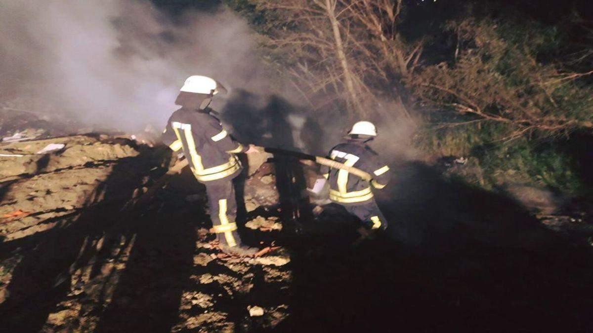 На Киевской свалке вспыхнул пожар