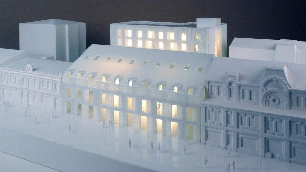 Напівоголена: як виглядатиме будівля у Києві на Сагайдачного – фото та ідея
