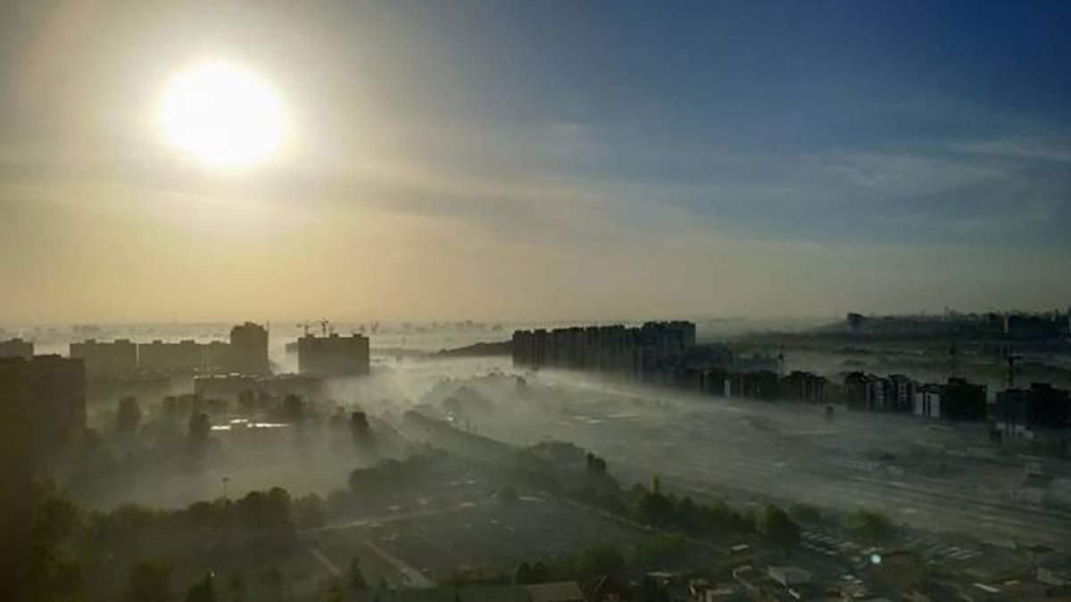 Загрязнение воздуха в Киеве из-за смога 21 сентября 2020: карта