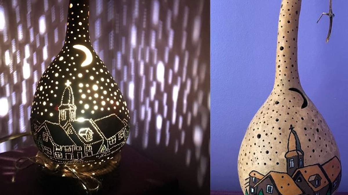 В столице пара делает светильники с тыкв