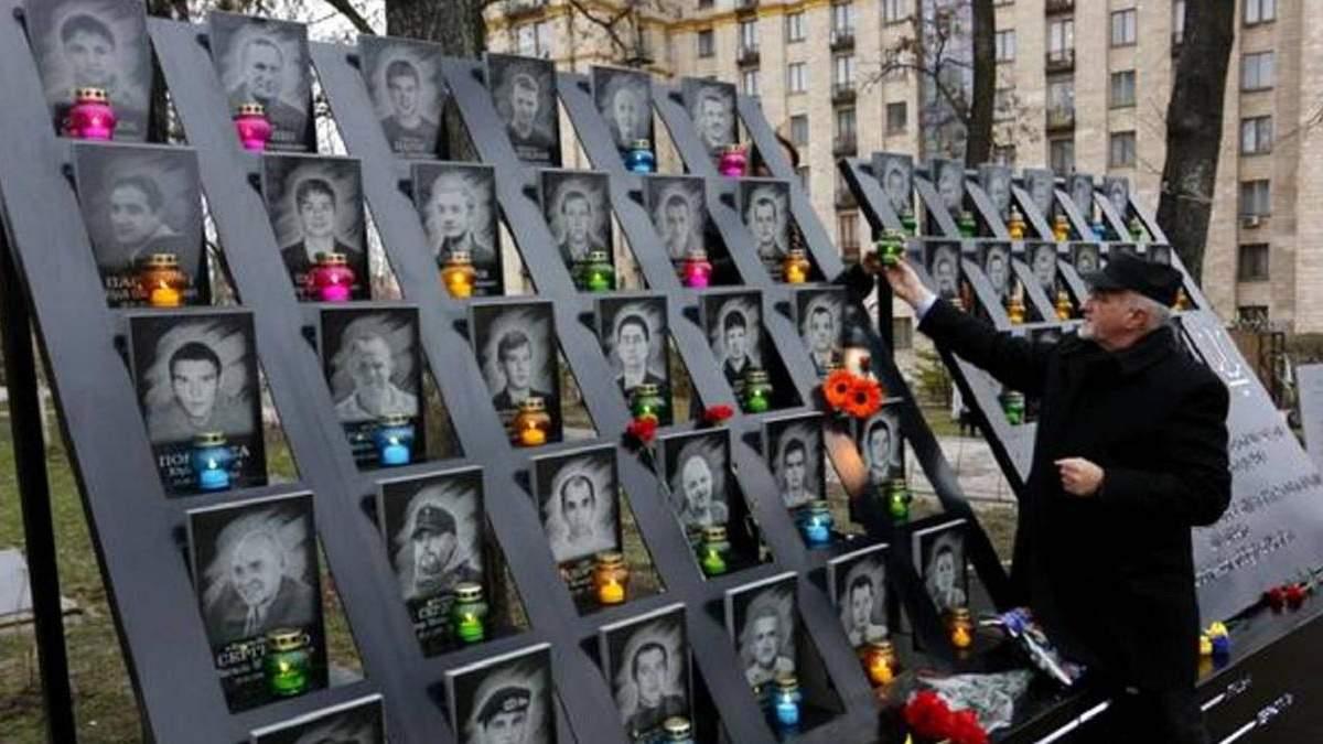 У Києві неадекват осквернив пам'ятник Героям Небесної сотні: відео