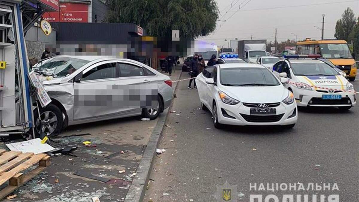 Водія Uber який в'їхав у зупинку в Києві затримали: що йому загрожує