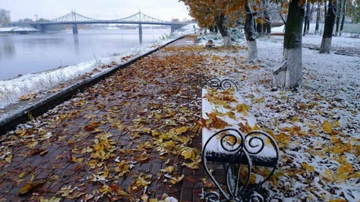 У Києві випав перший сніг: фото, відео