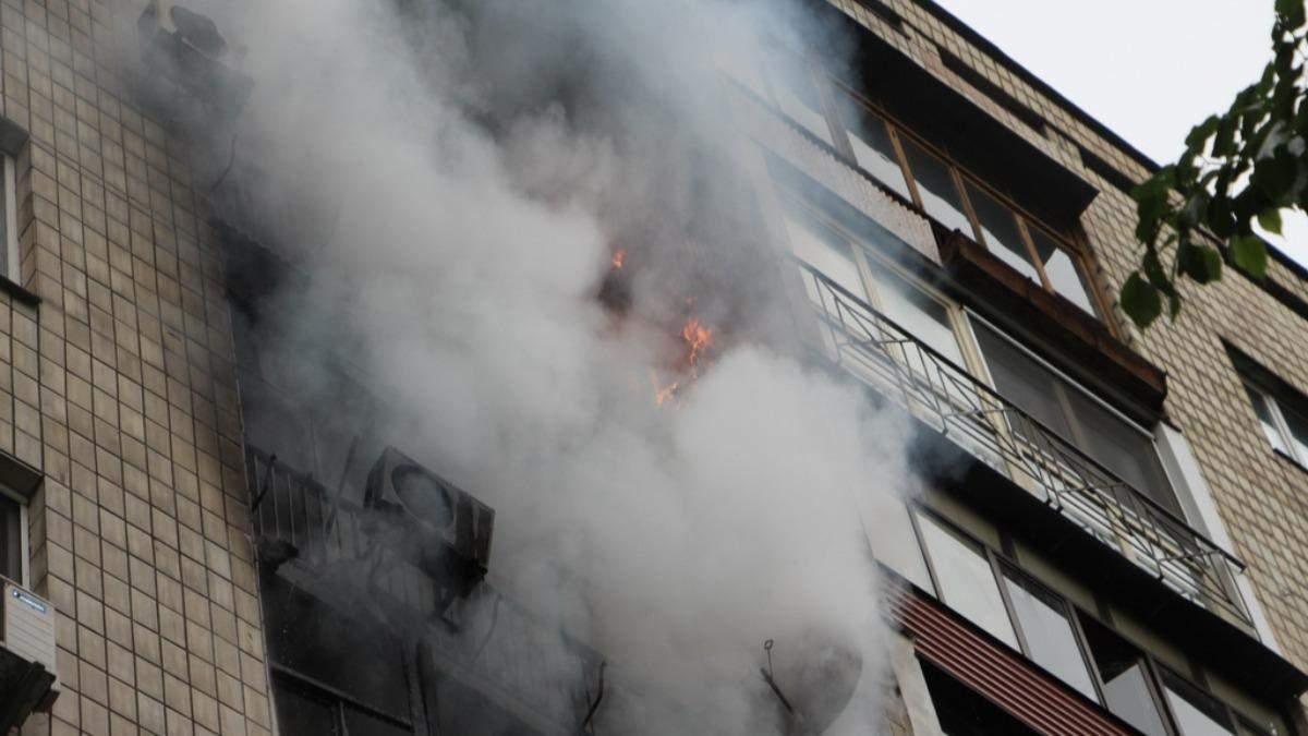 В Киеве горела многоэтажка: люди выпрыгивали из окон: видео