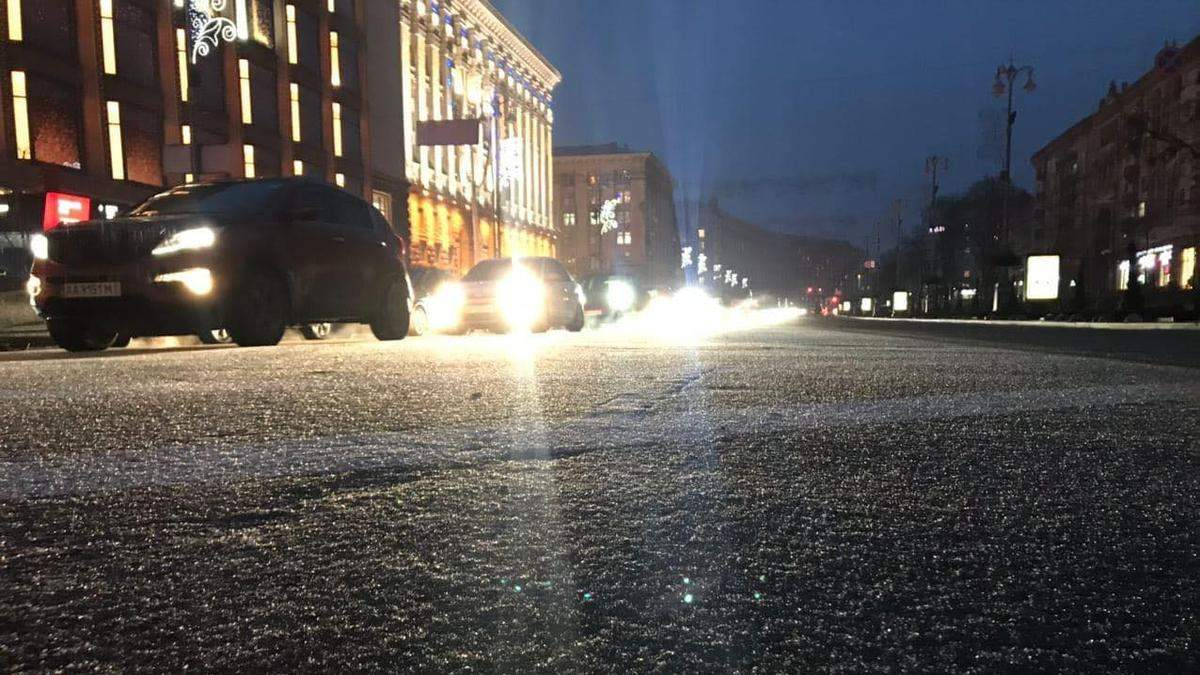 Ледяной дождь: Киев остановился в нереальных пробках, водителей призывают воспользоваться метро