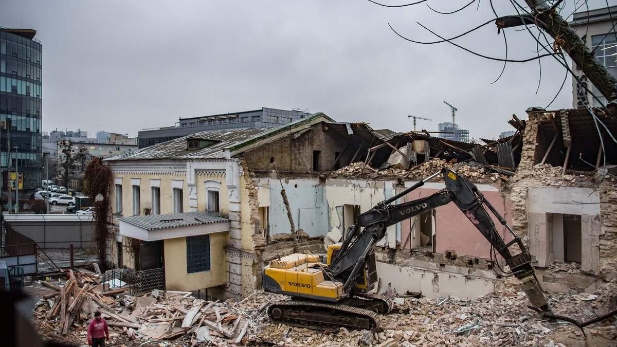 В Киеве уничтожают историческое здание на Протасовом Яру, 3
