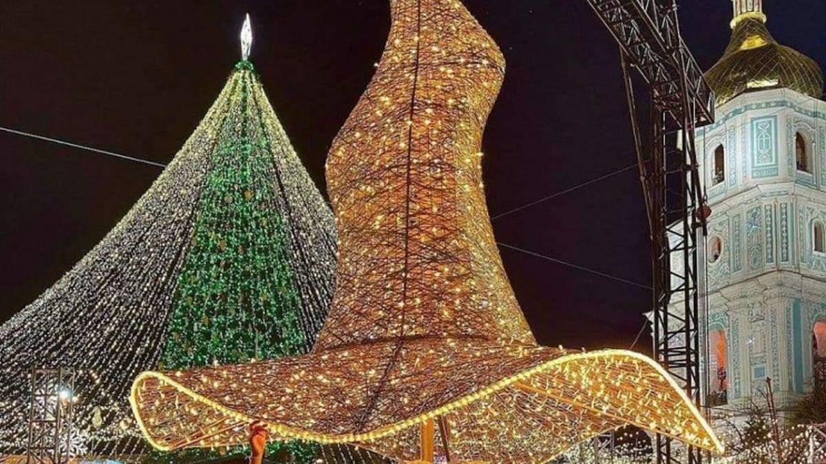 Скандальный шляпа с новогодней елки установили на новом месте