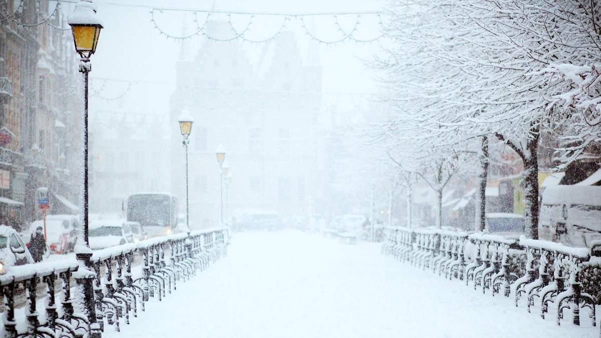 Снегопад в Киеве 2021: фото и видео, будет в выходные