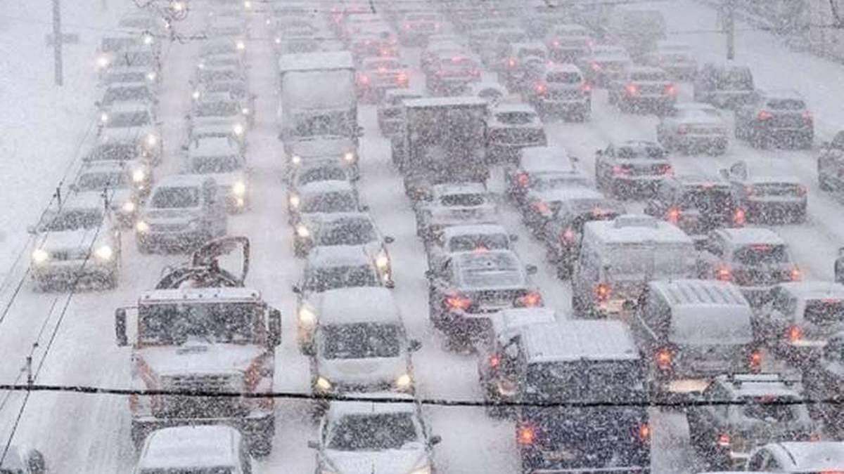 Пробки в Киеве 12.02.2021: онлайн карта, как объехать пробки
