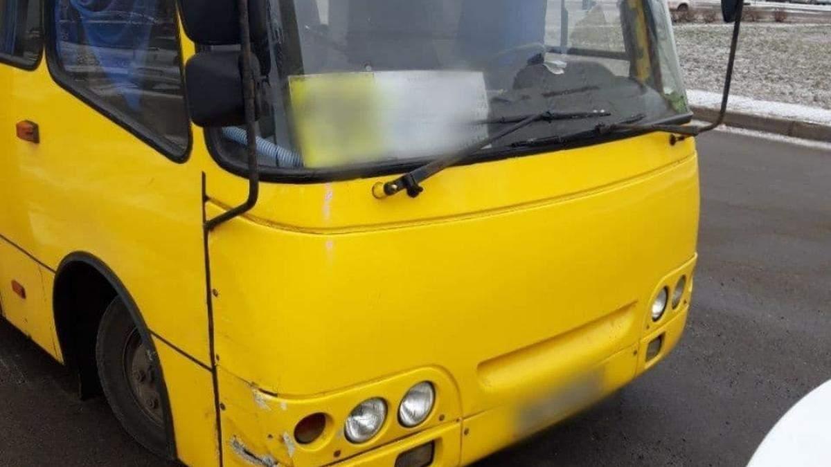 В Киеве поймали нетрезвого водителя неисправной маршрутки