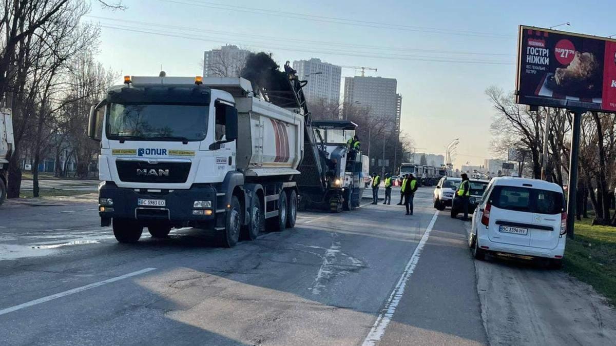 В Киеве начали ремонт Окружной дороги