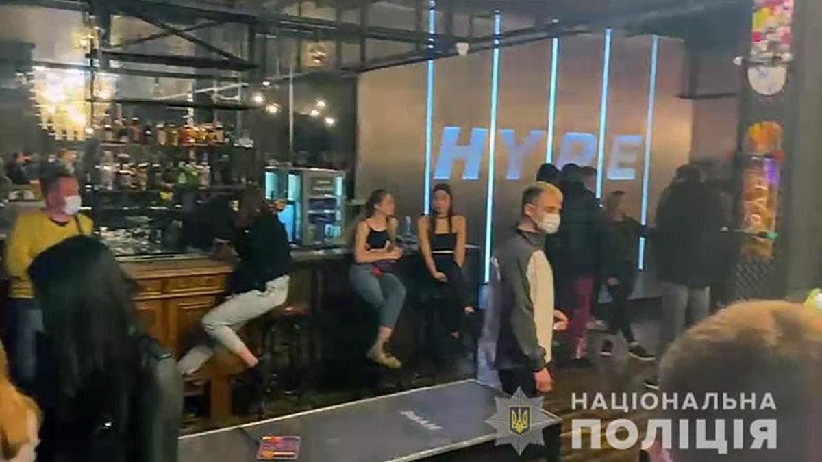 У Києві влаштували облаву на ресторани, які працюють під час локдауну: фото, відео