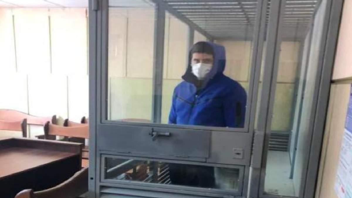 Підозрюваний у вбивстві Михайло Зотов у залі суду