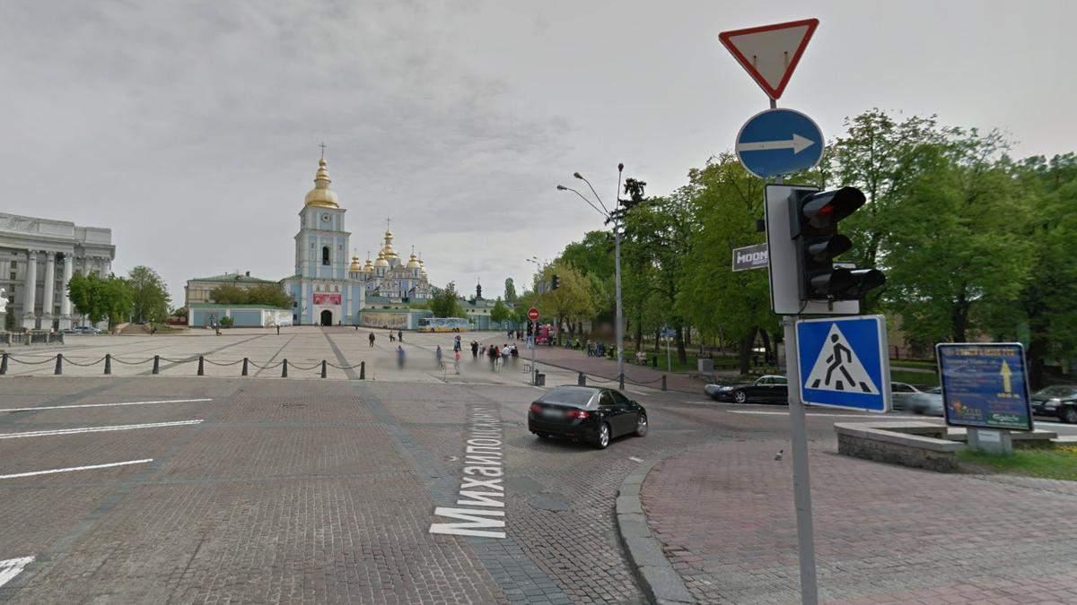 В Киеве к вечеру ограничат движение транспорта на Михайловской площади