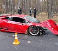 На заоблачной скорости: под Киевом во время съемок фильма разбили Lamborghini – фото