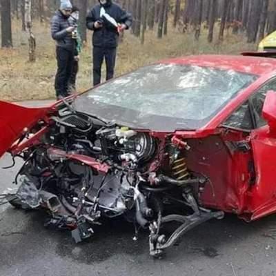 Стала відома вартість Lamborghini Huracan, яку вщент розбили біля Києва: знімали фільм
