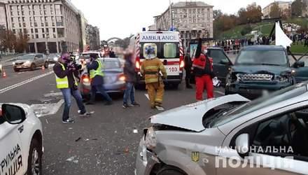 Водитель потерял сознание: в МВД назвали предварительную причину ДТП на Крещатике