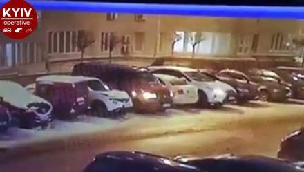 Посварився з дружиною та психанув: під Києвом чоловік пошкодив понад 10 автівок – відео